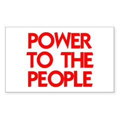 POWER TO THE PEOPLE Decal