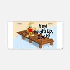 What's Up Dock Aluminum License Plate