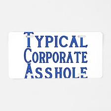Corporate A Hole Aluminum License Plate