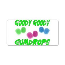 Goody Gumdrops Aluminum License Plate