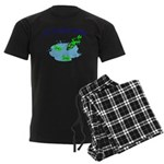 Froggy Dipping Men's Dark Pajamas