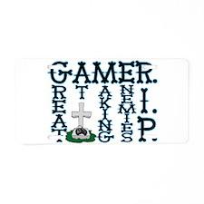 Gamer RIP Aluminum License Plate