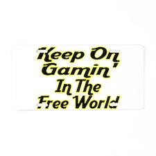 Free World Gaming Aluminum License Plate