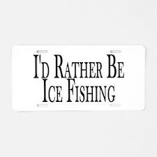 Rather Ice Fish Aluminum License Plate