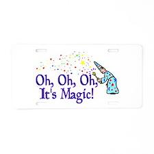 It's Magic Aluminum License Plate