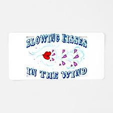Blowing Kisses Aluminum License Plate