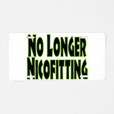 No Longer Nicofitting Aluminum License Plate