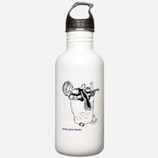 Always Give Thanks Water Bottle