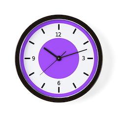 <b>BASIC COLOR CLOCKS:</b> Purple Wall Clock