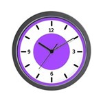 BASIC COLOR CLOCKS:  Purple Wall Clock