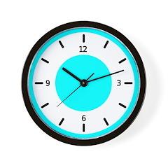 <b>BASIC COLOR CLOCKS:</b> Turq. Blue Wall Clock