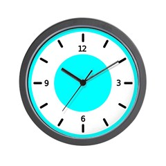 <b>BASIC COLOR CLOCKS:</b> Turq. Blue Wall Clock