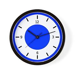 <b>BASIC COLOR CLOCKS:</b> Blue Wall Clock