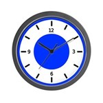 BASIC COLOR CLOCKS:  Blue Wall Clock