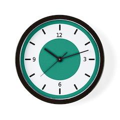 <b>BASIC COLOR CLOCKS:</b> Green Wall Clock