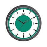 BASIC COLOR CLOCKS:  Green Wall Clock