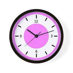 <b>BASIC COLOR CLOCKS:</b> Pink Wall Clock