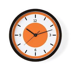 <b>BASIC COLOR CLOCKS:</b> Orange Wall Clock
