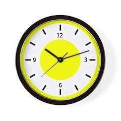 <b>BASIC COLOR CLOCKS:</b> Yellow Wall Clock
