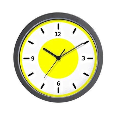 basic color clocks yellow wall clock by mlightart
