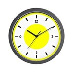BASIC COLOR CLOCKS:  Yellow Wall Clock