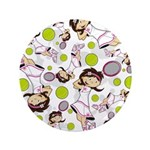 "Cute Little Tennis Girl 3.5"" Button (100 Pk)"