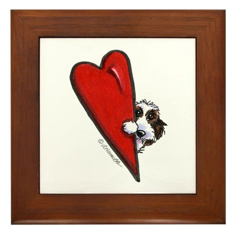 PBGV Lover Framed Tile