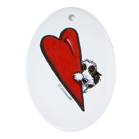 PBGV Lover Ornament (Oval)