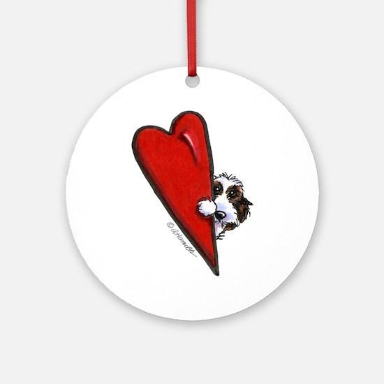 PBGV Lover Ornament (Round)