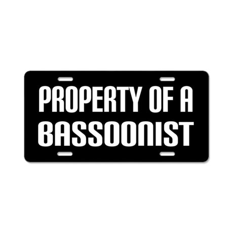 Bassoonist Property Of License Plate