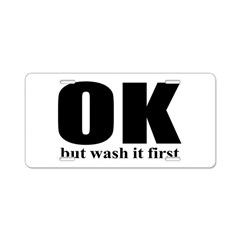 Wash It First Aluminum License Plate