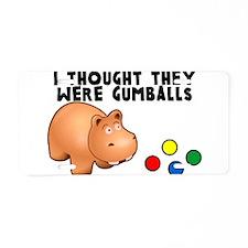 Hippo Gumballs Aluminum License Plate