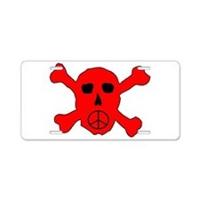 Peace Skull Aluminum License Plate
