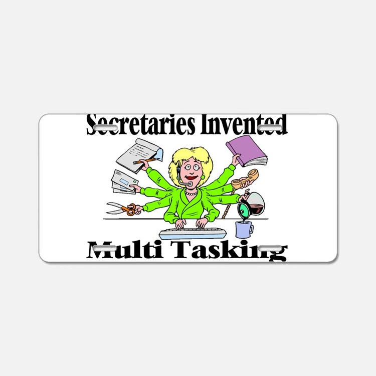 Secretaries Multi Task Aluminum License Plate