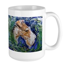 Fox Terrier in Blue Mug