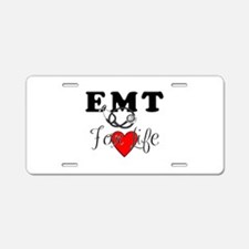 EMT For Life Aluminum License Plate