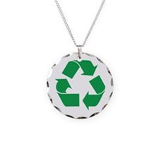 Green Recycle Necklace