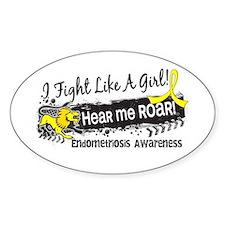 Fight Like A Girl Endometriosis Decal