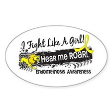 Fight Like A Girl Endometriosis Stickers