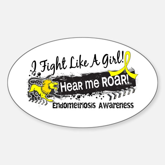 Licensed Fight Like A Girl 19.1 End Sticker (Oval)
