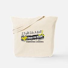 Licensed Fight Like A Girl 19.1 Endometri Tote Bag