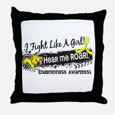 Licensed Fight Like A Girl 19.1 Endom Throw Pillow