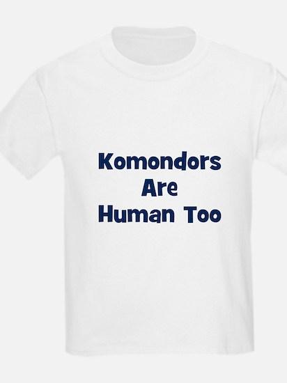 Komondors Are Human Too Kids T-Shirt