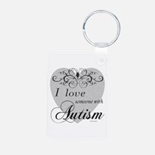 I love Someone With Autism ~ Aluminum Photo Keycha