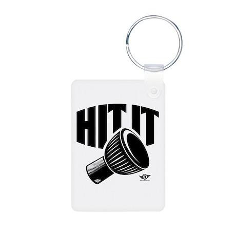 Hit-It Djembe! Aluminum Photo Keychain