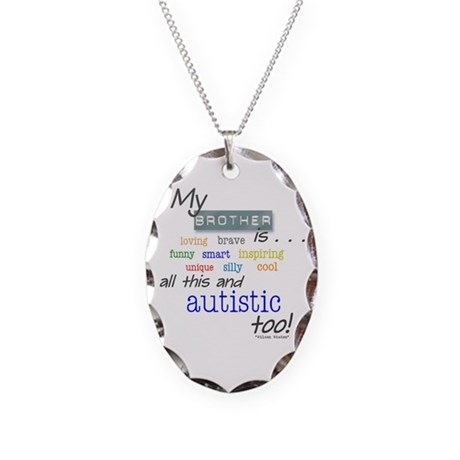 My Brother is . . . Necklace Oval Charm