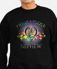 I Wear A Puzzle for my Nephew (floral) Sweatshirt