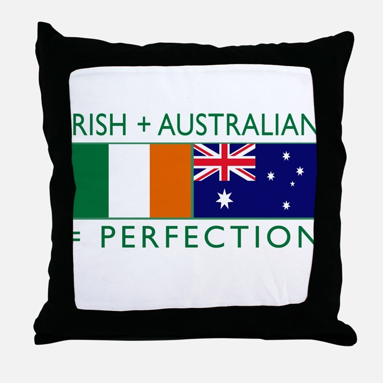 Irish Australian flags Throw Pillow