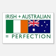 Irish Australian flags Decal