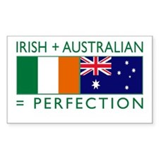 Irish Australian flags Stickers